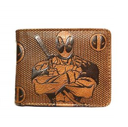 harry potter leather NZ - Cartoon Embossed Wallet Dragon Ball Deadpool Harry Potter Heroes Many Short Boys And Girls Short Wallets