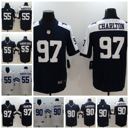 2019 Mens Dallas Cowboys Football Jersey 55 Leighton Vander Esch 90  DeMarcus Lawrence 97 Taco Charlton Football Jersey Stitched Embroidery ca688a26a