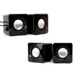 $enCountryForm.capitalKeyWord Australia - Cheap 6W USB Portable Computer Speakers USB Stereo Combination Speakers with 3.5mm Jack USB Powered 2.0 Subwoofer PC Speaker