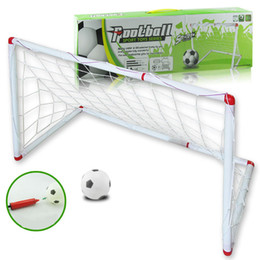 Fan Assembly Australia - Super Soccer sprot toys series assembly Football goal ball door toy child kids football fans outdoor & indoor toy gift