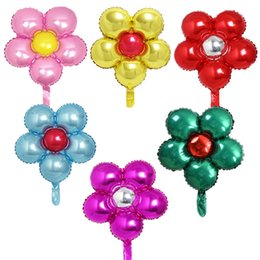 Flowers Balloon NZ - 55*50CM Balloons Aluminum film Coating inflatable Flowers 22'' Ballons Party Decor Butterfly Wedding Xmas globos Girls birthday Gift kid toy