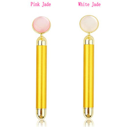 Jade stick massage online shopping - Vibration Facial Massager Jade Electric k Golden Face Massage Bar Cosmetic Magnetic Stick Skin Lift Tool Over DHL shipping