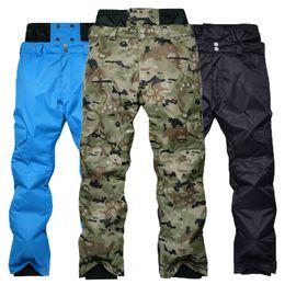 Warm Waterproof Pants Men Australia - Men 's Snowboarding Pants Winter Outdoor Windproof Waterproof Warming Thicker Camouflage High - waist Ski Pants Free Delivery