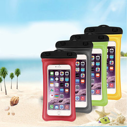 $enCountryForm.capitalKeyWord Australia - Waterproof Airbag Float PVC Dry Bags Universal Underwater Cases Pouch Sleeves with Neck Strap Snap and Lock Clamp for iPhone Samsung Galaxy