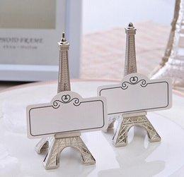 Vente en gros Tour Eiffel Place Carte Photo Design Titulaires Titulaire De Mariage Réception Parti Faveur Cadeau Livraison Gratuite
