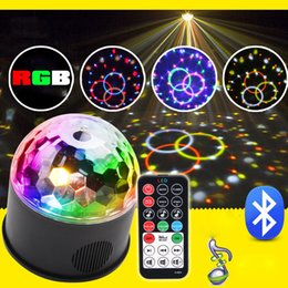 $enCountryForm.capitalKeyWord Australia - RGB Led Disco Magic Ball Light Crystal Sound Party Stage Lights Bluetooth Speaker For Home Karaoke Music Player