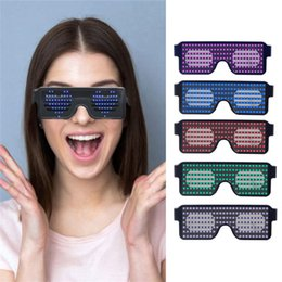 Glow Party Decorations Australia - Party Queen Neon LED Glasses Dynamic Glowing Light Novelty Light Festival Party Sunglasses LED Light Party Decoration