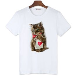 7f3987029 Printing T Shirts Design For Men UK - wholesale super lovely 3D cat tshirts  new design