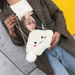 $enCountryForm.capitalKeyWord NZ - New Fashion Autumn Winter Women Bag Plush Shoulder Bags Metal Chain Strap Girl Evening Wallets Handbag Cute Messenger Bag Fa$1