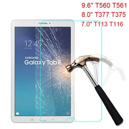 Sumsung Tablets Australia - Rounded Edge Tempered Glass For Sumsung Galaxy TAB E 9.6 8.0 7.0 inch T113 T116 T377 T375 T560 T561 Tablet Screen Protector Protective Film