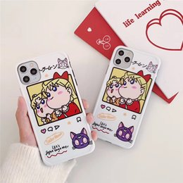 girls beautiful wallet NZ - Japanese cartoon beautiful girl for iphoneX XS Max XR 7 8 6 6S 11pro max
