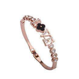 Rose Plated Bracelets Australia - Hot sale!!fashion brangle bracelet woman jewelry wholesale love eternal love bracelets new charming jewelry alloy plated rose gold