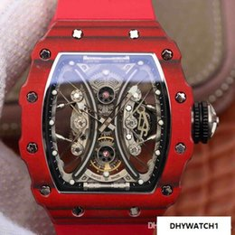 Hollow Fiber Australia - Rm53-01 luxury watch sapphire glass shockproof carbon fiber watch case suspension hollow movement waterproof an sweat resistant mens watches
