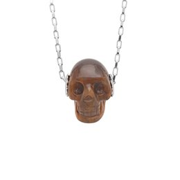 Best Girlfriend Christmas Gifts NZ - Hainon natural stone handmade skull necklace Best Girlfriend Gift Jewelry Cheap wholesale 18 inch chain 2019 new necklace