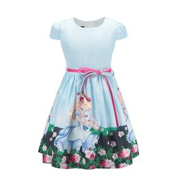 $enCountryForm.capitalKeyWord Australia - 2018 Baby Girls Dress For Party Princess Snow White Summer Girls Clothes Casual Style Children Dresses For Girls 8 Year Blue Y19061701