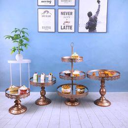 Design Cakes Cupcakes Australia - 4pcs  set Gold Pink Silver Mirror Cake Stand Metal Cupcake Grand Design Baking Love Wedding Party Dessert