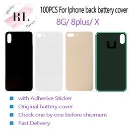 100 PCS OEM para o iphone 8 8 mais X bateria de volta capa habitação de substituição de vidro com adesivo venda por atacado