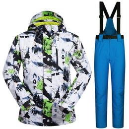 Ski Suits Australia - 2018 Male Ski Suits Jacket+Pants Men's Water-proof Breathable Snowboard Overalls Snowboard Suit Men Ski Jacket