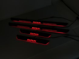 Discount car door sill plates - eOsuns acrylic LED moving door scuff Nerf Bars& Running Boards door sill plate linings for 1990 Nissan Safari 5dr LW