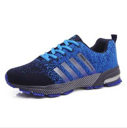 43ada21e542 New Hot 5 Color Fashion Men s Air Athletic Sneakers Breathable Light Running  Damping Weaving Mesh Casual Sports Shoes Size 39-44