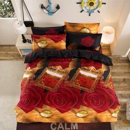 beds single size Australia - 4 Pcs Flower Bedding Quilt Duvet Cover Pillowcase Bedspreads Decor Set Family Bed Bedding Set Kids Bedclothes Double Single Size