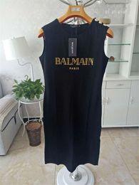 Balmain Womens Designer T Shirt Top Camicie donna Fashion Brand Women Designer Dress Balmain Abbigliamento donna