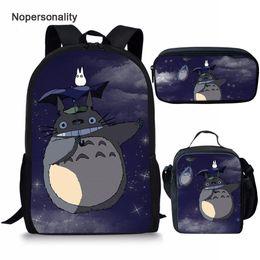 $enCountryForm.capitalKeyWord Australia - Nopersonality Cartoon Anime School Bag Set Cute My Neighbor Totoro Print Schoolbag Set for Children Primary Student Kids Bookbag