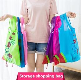$enCountryForm.capitalKeyWord Australia - New Strawberry Foldable bag Reusable Eco-Friendly Shopping Bags Pouch Storage Handbag Strawberry Foldable Folding Tote Storage Bag