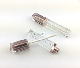 Refillable Lipstick NZ - 100Pcs Lot Rose Gold Empty Lip Gloss Tube, Square Silver Lip Gloss Refillable Bottles,Plastic Liquid Lipstick Container