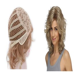 Italian Wave Hair Australia - Wholesale production of Italian golden lady wig, wig fluffy natural, good air permeability, comfortable to wear.TKWIG