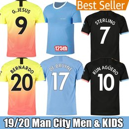 22 shirt Australia - Top Thailand MAHREZ JESUS DE BRUYNE AGUERO MEN and Kid set 19 20 Manchester soccer jerseys city 2019 2020 SANE jersey football MAN KIT shirt