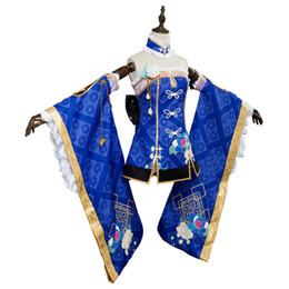 $enCountryForm.capitalKeyWord UK - LoveLive Sunshine Aqours Kanan Matsuura cheongsam Halloween Cosplay Costume Women Girls Cosplay China Dress Custom Made