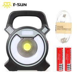 rechargeable emergency lanterns NZ - T-SUNRISE Portable Light LED Spotlight Rechargeable Batteries Camping Lamp Outdoor Lighting Emergency Lights Lantern for Camping