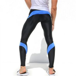 Wholesale Lycra Pants Fitness Australia - Sweatpants 2018 Summer came Men's new high quality Compression Tights Male Trousers Comfortable Fitness pants Quick-drying pants
