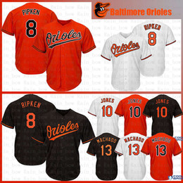 1ed9df952 New Baltimore 8 Cal Ripken Jr. Orioles Baseball Jerseys 10 Adam Jones 12  Roberto Alomar 13 Machado Jersey