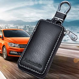 Wholesale Leather Car Key Case bags for Opel Volkswagen honda civic Kia ford focus audi a4 b8 mercedes benz skoda mazda Key Cover shell