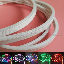 NeoN flex tubes online shopping - 2M WS2812B RGB LED Pixel Neon Tube Flex Strip Light LEDs V Silica Gel IP67 Waterproof mm mm Magic Addressable Individual Sign