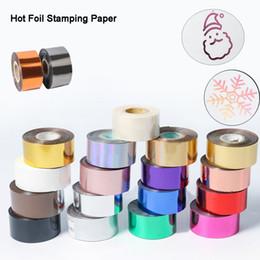 Toptan satış 3CM * 120meter / Altın Gümüş Kırmızı Beyaz Rolls Sıcak Varak Kağıdı Isı Transferi Anotlanmış Yaldızlı Kağıt Deri PU Cüzdan Sıcak için damgalama folyo