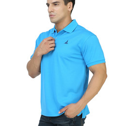 Polo Tees Tops Sports UK - FANNAI Training Exercise Polo Shirt Collar Sport T Shirts Men Golf Jerseys Quick Dry Sports Short Sleeve Solid Top Tees Clothing