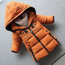 Hooded Winter Down Parkas Australia - good quality children boys jackets winter 2019 hooded thicken clothing for boys casual warm sports coats brand outdoor down parkas