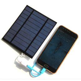 2.5 w 5 v carregador solar policristalino carregador de painel solar para banco de energia móvel 3.7 v carregador de bateria de luz 130 * 150mm em Promoção