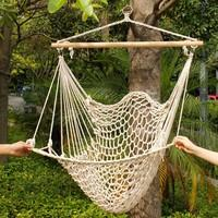 Outdoor Indoor Garden Dormitory Bedroom Hanging Swing Cotton Hammock Chair Solid Rope Yard Patio Porch Garden Free Shipping on Sale