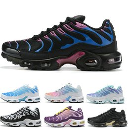 Discount womens rubbers - 2019 New Arrival tn women mens running shoes Breathable Mesh Chaussures Homme Tns Womens Trainers Casual Sneakers size 3