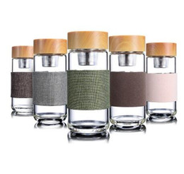 $enCountryForm.capitalKeyWord Australia - Glass Water Bottles Heat Resistant Round Office Car Cup With Stainless Steel Tea Infuser Strainer lTumbler Christmas Gifts 350ml