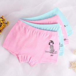 China High Quality Children Underwear Cotton Kids Girls Boxer Briefs Panties Cartoon Dot Print 2pcs set Little Girls Underwear size 3-13 Years supplier boxer sizes suppliers