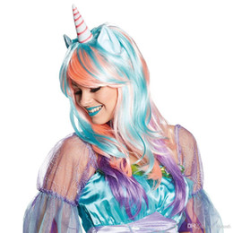 $enCountryForm.capitalKeyWord UK - Unicorn wig party makeup stage festive decoration fashion fluffy woman