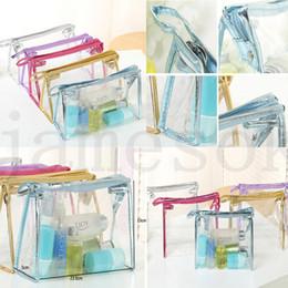$enCountryForm.capitalKeyWord NZ - hot Portable cabinet transparent waterproof makeup bag fashionable women transparent storage bags tourism wash bag 5 colors dc701