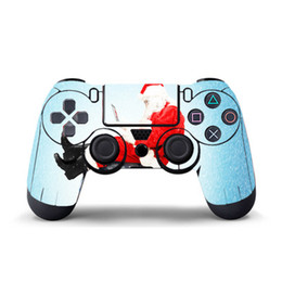 Cool Ps4 Skins UK - Santa Claus Game Sticker Vinyl For PS4 Controller Decal Skins PS4 Gamepad Cover For PS4 PVC Protector Skin Cool For Game Controllers