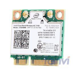 $enCountryForm.capitalKeyWord Australia - mini pci-e card Dual Band Wireless- For Intel 3160 3160HMW 802.11 Wifi + Bluetooth 4.0 Mini PCI-e card 2.4G and 5Ghz 802.11a b g n AC