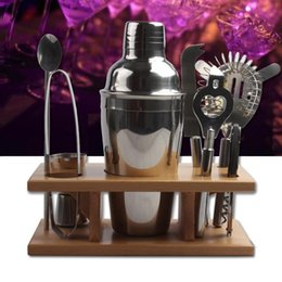 bar shaker kit 2019 - Stainless Steel Shaker Kit Red Wine Cocktail Shakers Set Western Style Metal Shacker Kits Easy To Clean Bar Tool Camp Ki